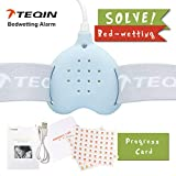 3in1 Bed Child Rechargeable Bedwetting Alarm Enuresis Baby Monitor for Boys Girls Adults Incontinence Seniors Loud Sound Vibrating Urine Detection Cure Potty Training, Urologist Tested(Blue)