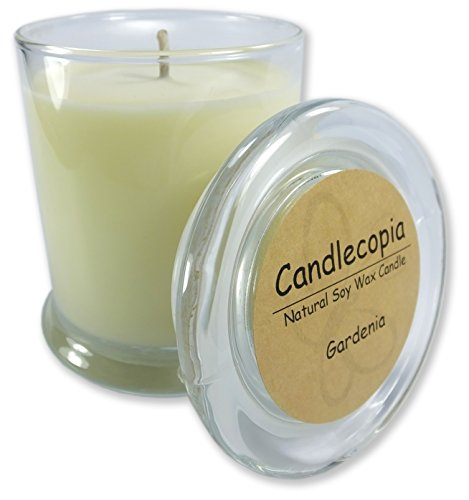 Candlecopia Gardenia Scented Soy Candle - The exquisite aroma of
