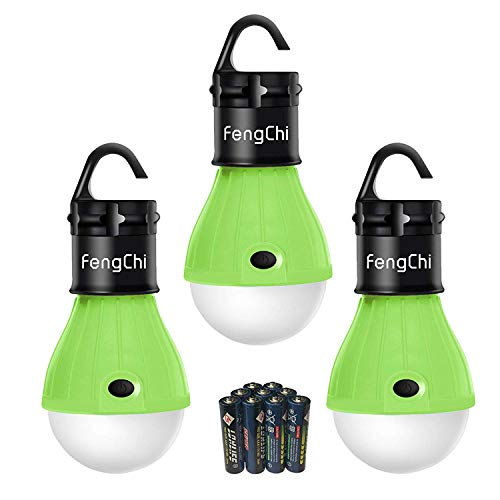 - FengChi LED Camping Lantern, [3 Pack] Portable Outdoor Tent Light Emergency Bulb Light Bulb for Camping, Hiking, Fishing,Hurricane, Storm, Outage ...