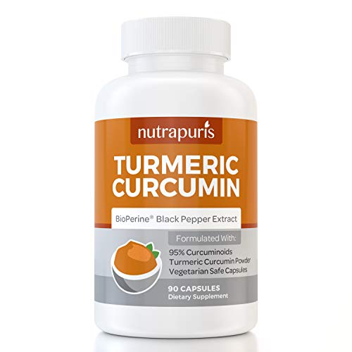 Organic Turmeric Curcumin Complex with Bioperine Black Pepper | Curcuminoid Anti-Inflammation Supplement Capsules For Joint Pain and Mobility Support and Relief | One Month Supply from Nutrapuris