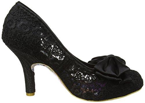 Irregular Choice Mal E Bow, Zapatos de Tacón mujer Black (Black Lace)
