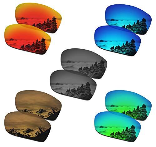 SmartVLT Set of 5 Men's Replacement Lenses for Oakley Valve New 2014 Sunglass Combo Pack S02