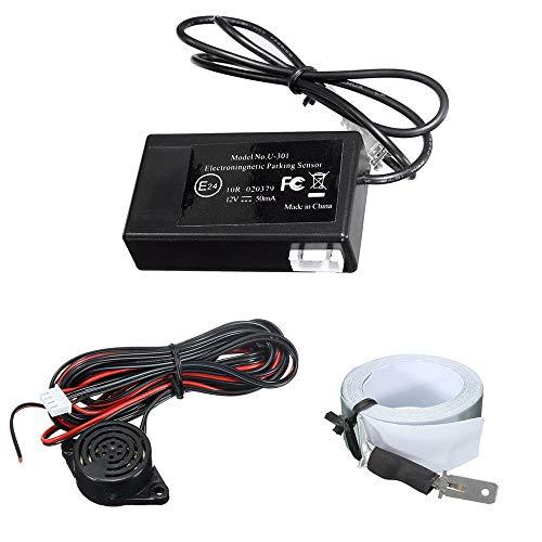 Hellofishly LED DC12V Electromagnetic Auto Car Parking Reversing Reverse Backup Sensor,Radar Detector System
