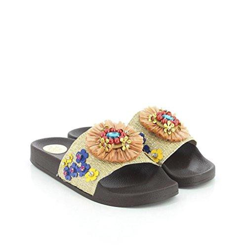 KOALA BAY WoMen Britannia Open Toe Sandals Brown (Marr