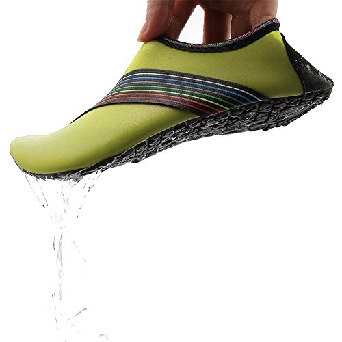 Equick Vrouwen Waterschoenen Sneldrogende Adempauze Sport Huid Schoenen Blootsvoets Anti-slip Multifunctionele Sokken Yoga Oefening Ch.green