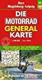 Motorrad Generalkarte Deutschland Harz, Magdeburg, Leipzig 1:200 000