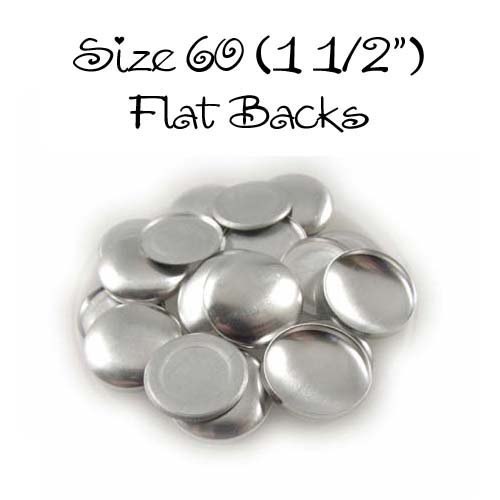 Cover Buttons - 1 1/2'' (SIZE 60) - FLAT BACKS - QTY 200 by I CRAFT FOR LESS