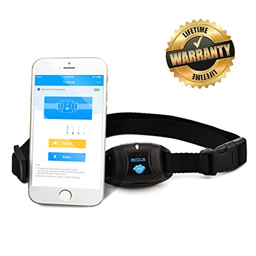 Waterproof Smart Phone Bluetooth Control No Bark Training Dog Shock Collar with Remote Trainer for Small Medium, Large Dogs
