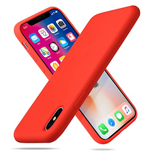 AMLINK Liquid Soft Silicone Case fit for Apple iPhone X 5.8