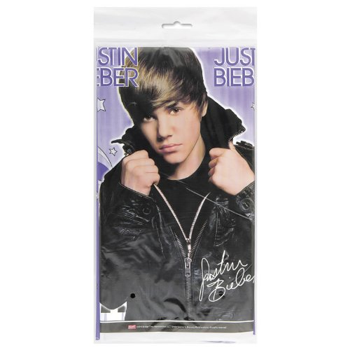 Unique 193164 Justin Bieber Plastic Tablecover (Justin Bieber Supplies compare prices)
