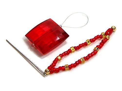 Cross Hardanger - Beaded Stitch Picker/Needle Threader Set Red Gold