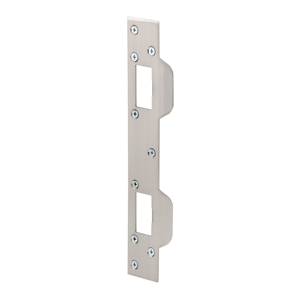 Prime-Line Products U 10385 Prime Line Door Strike, for Use with 5-1/2 in and 6 in Hole Spacing's On Dead Latch and Deadbolt, Steel