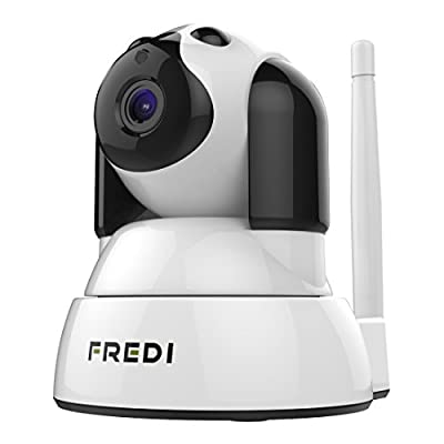 FREDI Baby Friendly Protector Baby Monitor Wireless WIFI IP Surveillance Camera 720P HD Security Camera With Two-Way Talking,Infrared Night Vision,Pan Tilt,P2P Wps Ir-Cut Nanny Camera Motion Detection by FREDI