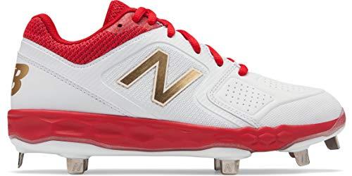 New Balance Women's Velo V1 Metal Softball Shoe red/White 6 D US