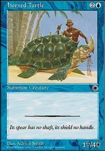 Magic: the Gathering - Horned Turtle - Portal