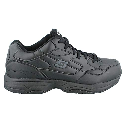 Skechers Men's, Felton Slip Resist Wide Work Sneakers Black 15 - Men Slip