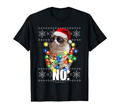 Grumpy Cat Sweater (Grumpy Cat Ugly Sweater Christmas Lights No Graphic)