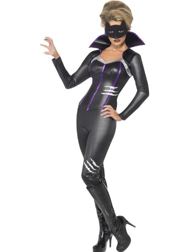 Fever Foxy Feline Super Hero Costume Female UK Dress 8-10 24059S - Female Superhero Costumes Uk