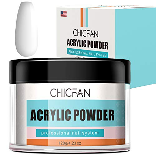 CHICFAN Clear Acrylic Powder for Nail Extension & Encapsulation - 4.23 oz/Gift Box