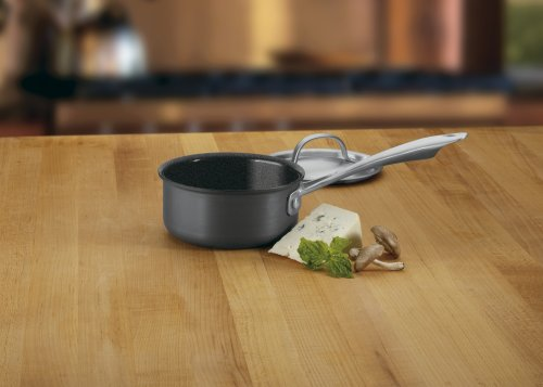 Cuisinart GG19-14 GreenGourmet Hard-Anodized  Nonstick 1-Quart Saucepan with Cover
