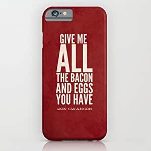 Bacon And EgRon SwansParks And Recreatio? Case For Iphone 4/4S Cover Case by Sandra Amstutz