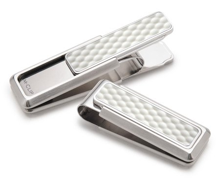 Brushed Stainless White Golf Ball Money Clip XL Spring, used for sale  Delivered anywhere in USA