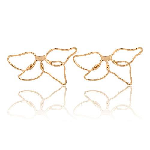 (Trendy Big Hollow Butterfly Drop Dangle Earring for Women Girls Metal Geometric Pendant Earrings (Flowers))