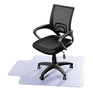 "MasterPanel - 48"" x 36"" PVC Home Office Chair Floor Mat For Wood/Tile 1.50mm Thick #TP3408"
