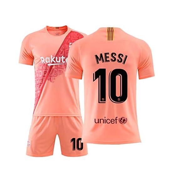 FNBA Barça # 10 Lionel Messi Maillot de Foot Extérieur Taille Adulte Hommes Coupe du Monde Football Cadeau Premium (10, Lionel Messi)