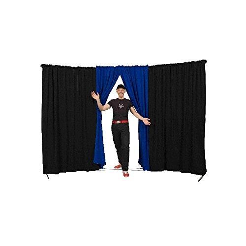 Bühnenvorhänge Spider Evoflex schwarz porte BORDEAUX Blaue Tür