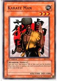 - Yu-Gi-Oh! - Karate Man (SDJ-013) - Starter Deck Joey - Unlimited Edition - Common