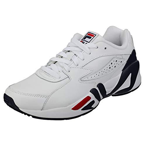 Hombres Fila Blanco Blanco rojo Marino Zapatillas azul