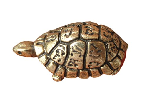 Brass Turtle - Himalayan Treasures Brass Turtle Amulet Statue Good Luck Charm Thailand Buddhist Blessing
