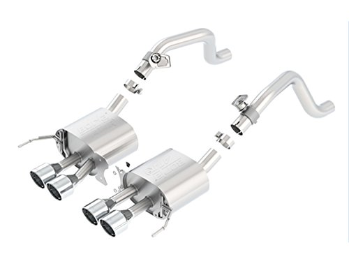 (BORLA 11863 ATAK Rear Section Exhaust System (with AFM Valves, Round Intercooled Tips))