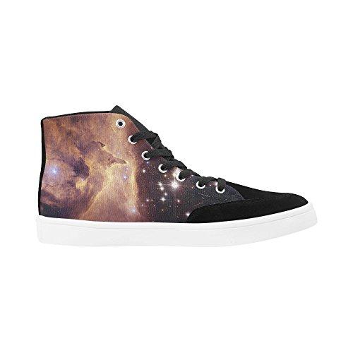 D-story Custom Aragosta Nebulosa Scarpe Alte Per Uomo Scarpe Di Tela Moda Sneaker