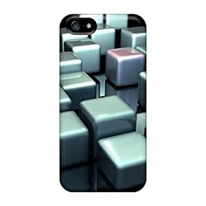 Case For Ipod Touch 5 Cover - Retailer Packaging Silver 3d Cubes Protective Cases Black Friday