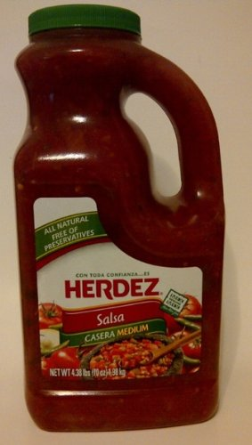 Salsa Casera Medium Herdez - Free of Preservatives 4.38lb (70oz Single Bottle)