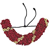 Manav Company Traditional Indian Hair Tissue Flower For Bridal Or Wedding Hair Jewellery (veni) For Women