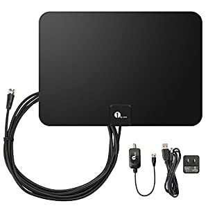 Ratings and reviews for 1byone TV Antenna, 50 Mile Range Amplified HDTV Antenna with Detachable Amplifier Signal Booster, USB Power Supply and 10 Feet Highest Performance Coaxial Cable-Black