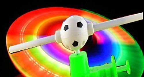 UChic 2PCS Creative Novelty Shining Luminous Musical Windmill Music Light Up Flashing Led Football Hand Push Windmill Puzzle Kids Children Toys