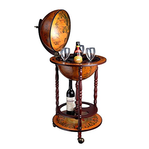 Wood Globe Wine Bar Stand 41nbi 2BUxzTL