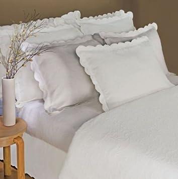 Superior Lamont Home Majestic Matelasse King Coverlet, White