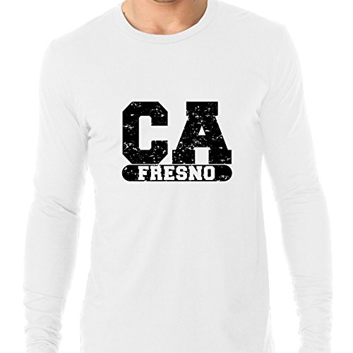 Fresno, California CA Classic City State Sign Men's Long Sleeve T-Shirt (Party City Fresno Ca)
