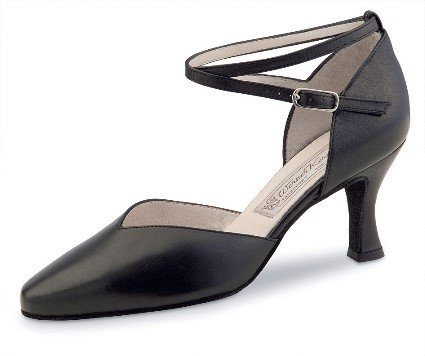 Werner Kern Womens Betty 6.5 Black Leather - American 9.5 / European 6.5 by Werner Kern