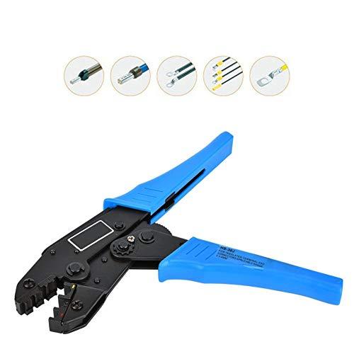 ラチェット圧着プライヤー、0.5〜6.0mm²ラチェット圧着プライヤー、22-10AWG圧着工具電気技師修理工具、管状端子用