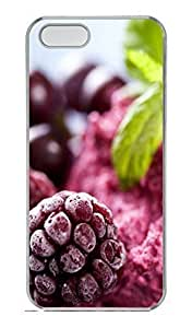 Berries Ice Cream Cover Case Skin For HTC One M7 Phone Case Cover Hard PC Transparent Kimberly Kurzendoerfer