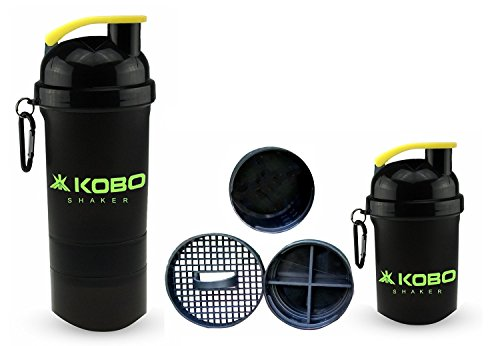 KOBO Shaker Sipper Bottle (Imported) For Gym, Camping & Hiking (400 ml)