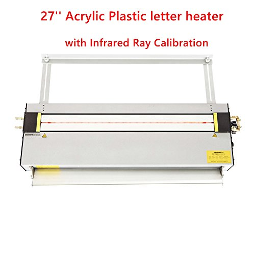 27'' Upgraded Acrylic Plastic Heater Bender Lightbox PVC Bending Machine Bender (Infrared Ray Calibration, Angle and Length Adjuster,1-10mm Thickness) 220V