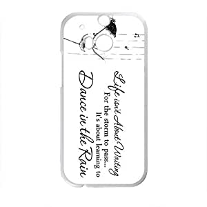 Elegant Dance In The Rain Brand New And Custom Hard Case Cover Protector For HTC One M8
