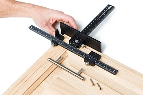 True Position Tools TP-1934 Cabinet Hardware Jig for Professional Installation of Handles and Knobs on Doors and Drawer Fronts. Fastest and Most Accurate Knob & Pull Jig. Lifetime Bushing Warranty MADE IN USA